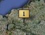 So sieht Kiel aus, nachdem die entsprechende Aufgabe gelöst wurde. Die Nummer auf dem Ortsschild entspricht der Nummer in der Aufgabenliste rechts.